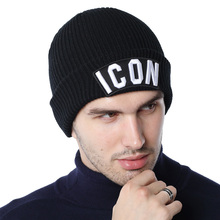 DSQICOND2 Skullies Beanie Embroidery Skiing Knitted Hats ICO