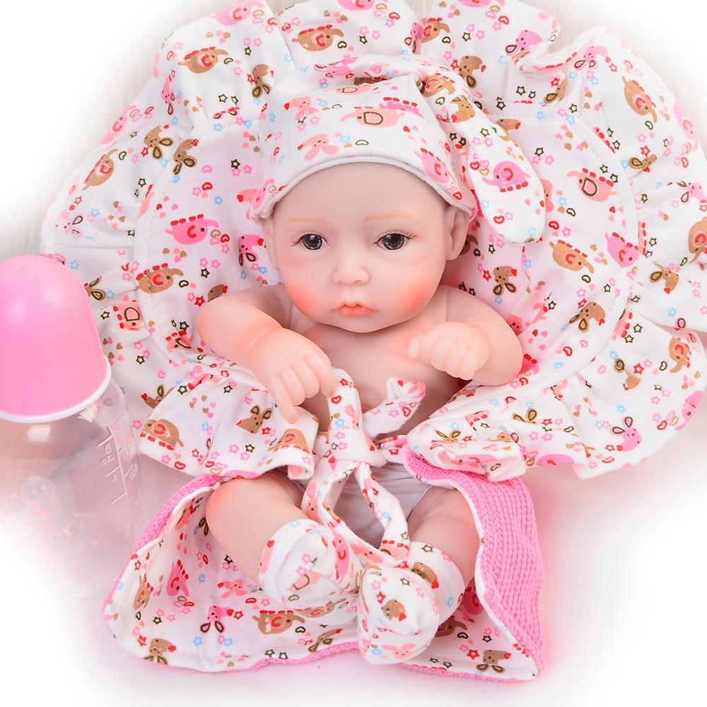 Handmade 11 Inch Lifelike Reborn Girl Baby Doll Full