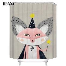 IBANO Cartoon Cat Shower Curtain Customized Bath Waterproof Polyester Fabric For The Bathroom cortinas