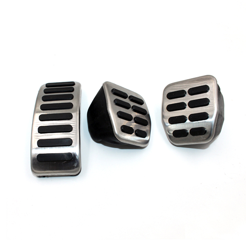 Aço inoxidável Tampa Tampa Da Embreagem Freio Acelerador Pedais Do Carro para VW Polo Golf Jetta Bora MK4 4 Para Skoda Fabia estilo do carro