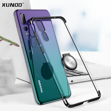 Xundd Luxury Clear Case for Huawei P20 P20 Pro Metal Ring Holder Hard PC Back Cover for Huawei P20 Fit with Magnetic Car Holder