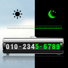 Car Temporary Luminous Parking Number Plate Sticker Creative Rotary 3D