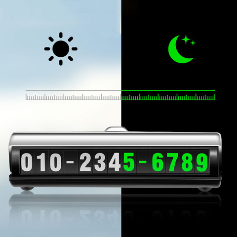 Car Temporary Luminous Parking Number Plate Sticker Creative Rotary 3D Hidden Sign Mobile Phone Number Universal Car Accessories Pakistan