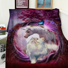 Blankets Soft Plush Super Warm Sofa Bed Blanket Throw Wonderland White Unicorn Cat Butterfly Animal Thick Thin Cobertor Plaid