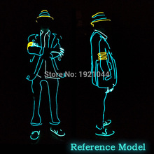 Высокое качество el Костюмы светодиодный/EL одежда светящиеся костюмы светящиеся Прихватки для мангала Обувь свет Костюмы Для мужчин Одежда для танцев для вечерние Декор