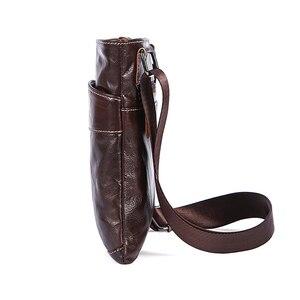 Image 3 - MVA Messenger Mens Bag shoulder Mens Genuine Leather bag Flap Small male man Crossbody bags for men natural Leather bags 703