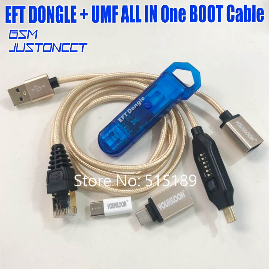 2019 Newest 100% Original EASY FIRMWARE TEMA / EFT DONGLE + UMF all boot Cable ( all In One Boot Cable )Free Shipping