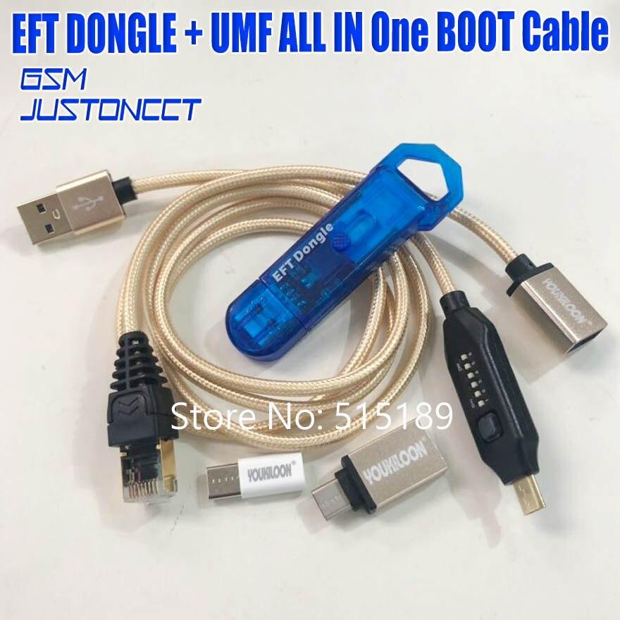 2019 date 100% Original facile FIRMWARE TEMA/EFT DONGLE + UMF tous les câbles de démarrage (tout en un câble de démarrage) livraison gratuite