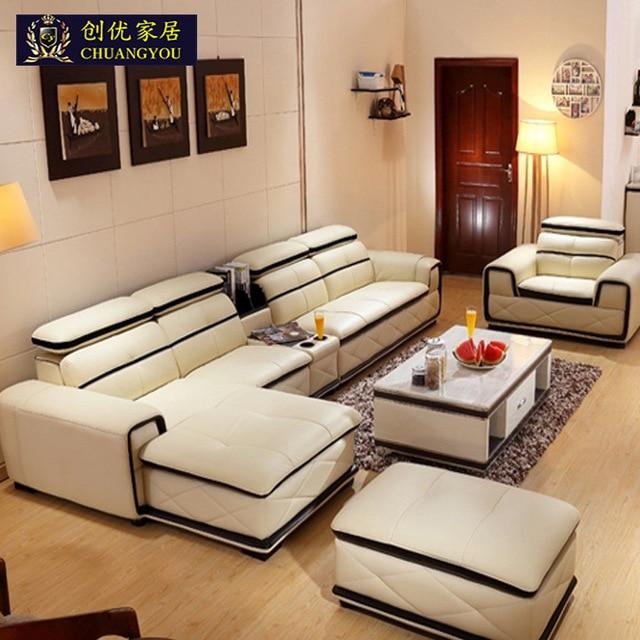 Più nuovo commercio all'ingrosso vera pelle soggiorno divano con ...