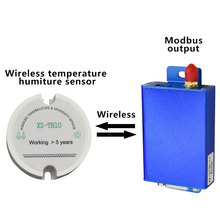 Freeshipping RS485 درجة الحرارة و الرطوبة الارسال MODBUS درجة الحرارة و الرطوبة الاستشعار RS485 Modbus إلى اللاسلكية