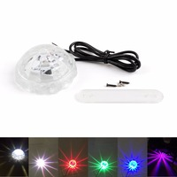 Areyourshop Motorcycle 32 Modes LED Colorful Light Undercar Underbody Glow Decoration Atmosphere Lamp ABS Plastic Clear
