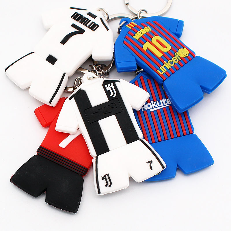 Soccerwe Cartoon Ronaldo Messi Salah Pogba Kits Doll Kit Colors Loverly Figurine PVC Toy Decoration