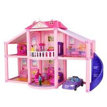 미니어처 가구 차고 자동차 DIY 인형 하우스 장난감으로 새로운 3D DIY 가족 인형 집 인형 액세서리 장난감 어린이 선물 용품