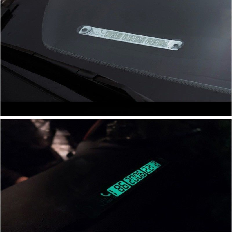 2019 New 15x2cm Car Telephone Number Card Sticker Night Luminous Temporary Car Parking Card Plate Suckers Phone Number Card in Car Stickers from Automobiles Motorcycles