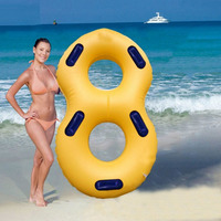 Creative 120x60cm Inflatable Swimming Ring Pool Floating Ring with Handrail for Summer Beach Swimming Pool Party free shipping
