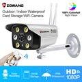 ZGWANG 1080P Wifi ip-камера беспроводная наружная Водонепроницаемая HD полноцветная ИК-камера ночного видения CCTV видеонаблюдения Bulllet камера