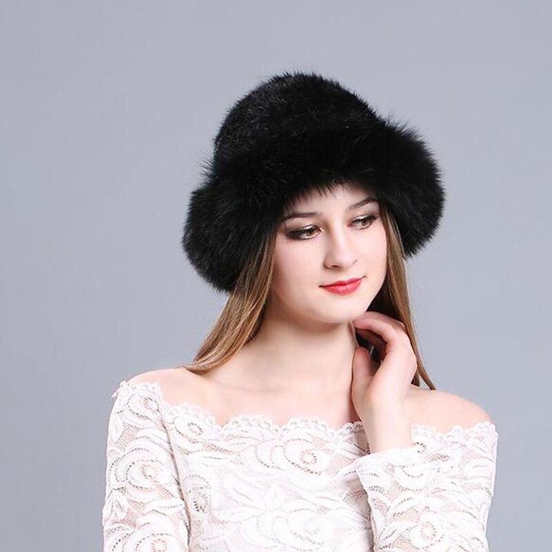 2f856d0acaf Mink Hair Fox Fur Redge Women Hat Autumn Winter Thermal Female All Match Cap  Korea Elegant Russia Windproof Fedoras MZ056-in Fedoras from Apparel ...