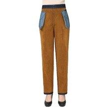 Winter Woman Casual Denim Pant Blue Black Thicken Fleece Warm Jeans Women High Elastic Waist Band Jeans Trousers Denim Bottoms
