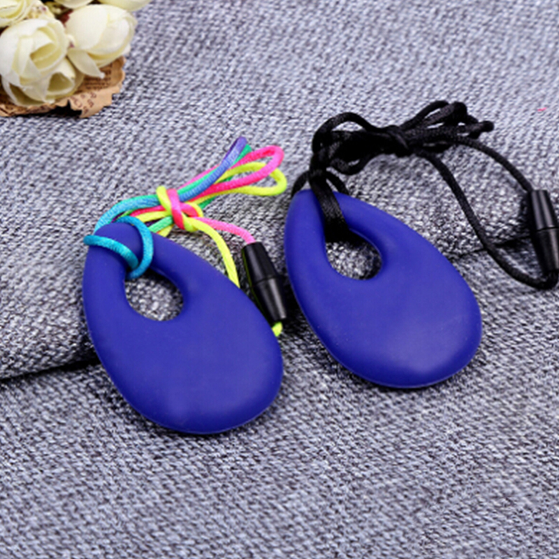 Silicone Baby Teether Toddler Kids Drop Ring Teething Necklace Pendants Newborn Molars Tooth Chewable Teething Toy