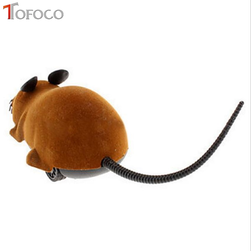 Купить с кэшбэком TOFOCO Wireless Remote Control Rat Mouse Toys Novelty Funny RC Interesting Eletric Tricky Toys for Boys and Girls