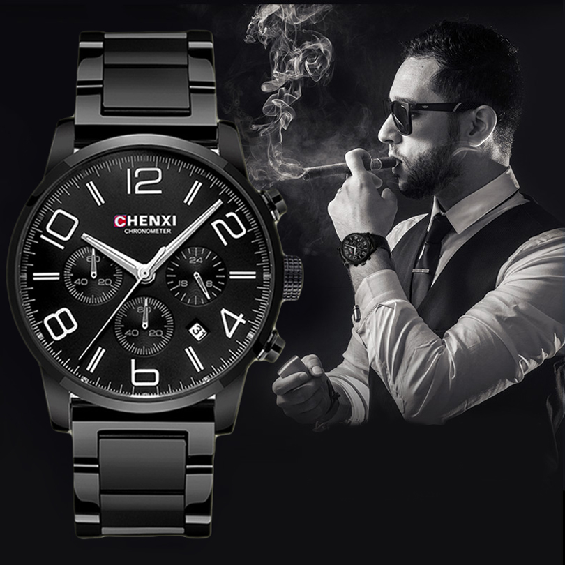 CHENXI Sports Multifunction Men s Wrist Watches Top Luxury Brand Steel Leather Strap Male Chronograph Quartz