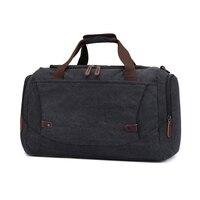 2017 New Style Big Capacity Canvas Handbag Outdoor Sport Gym Good Quality Bag Black