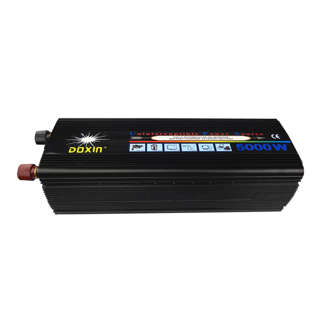 UPS 10000W peak power Modified Sine Wave 5000W UPS DC12V or 24V to AC220V Power Inverter with Charger 5000w dc 48v to ac 110v charger modified sine wave iverter ied digitai dispiay ce rohs china 5000 481g c ups