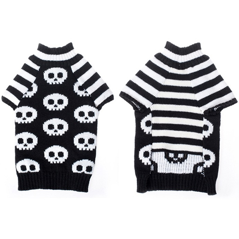 Diseño Caliente Del Perro Casero de Halloween Cráneo Suéter prendas ...