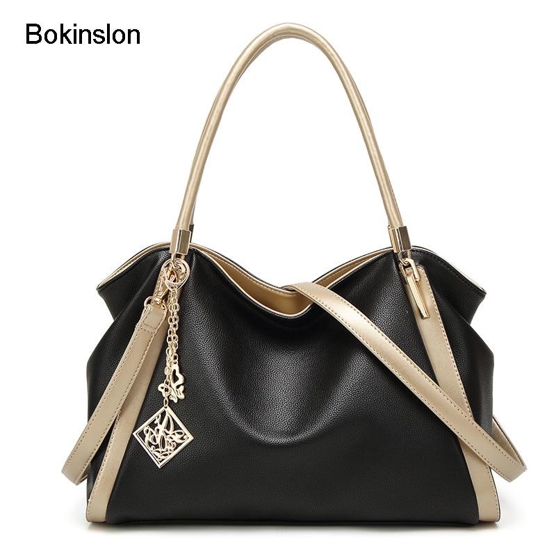 Bokinslon Crossbody Bag For Ladies Large Capacity Fashion Handbags Women Bags PU Leather Popular Women Shoulder Bags