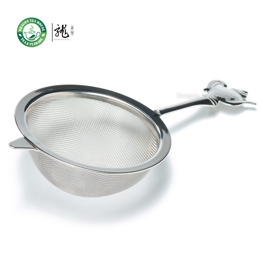 Stainless Steel Fine Wire Mesh Tea Strainer Filter w/t Teapot Shaped Handle