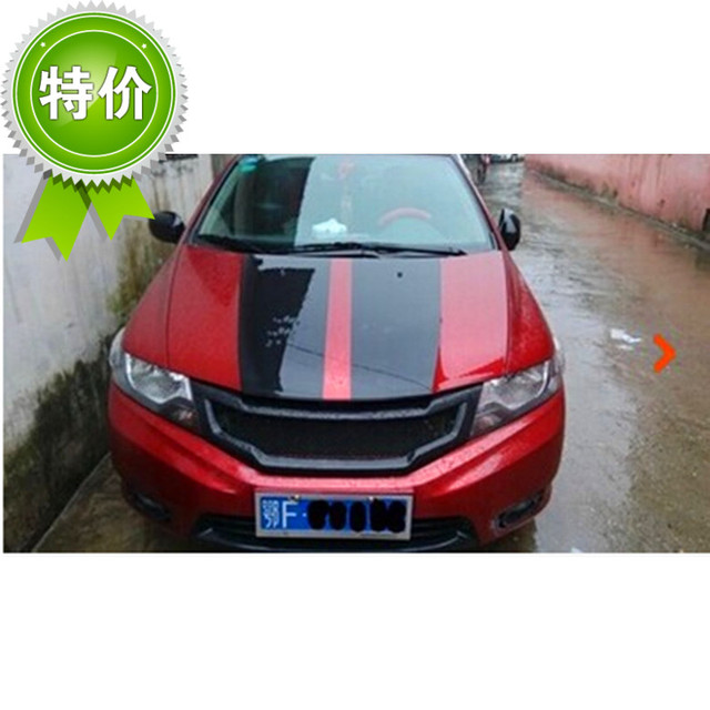 Fit For Honda City 2009 2014 Carbon Fiber Car Grill High Quality In
