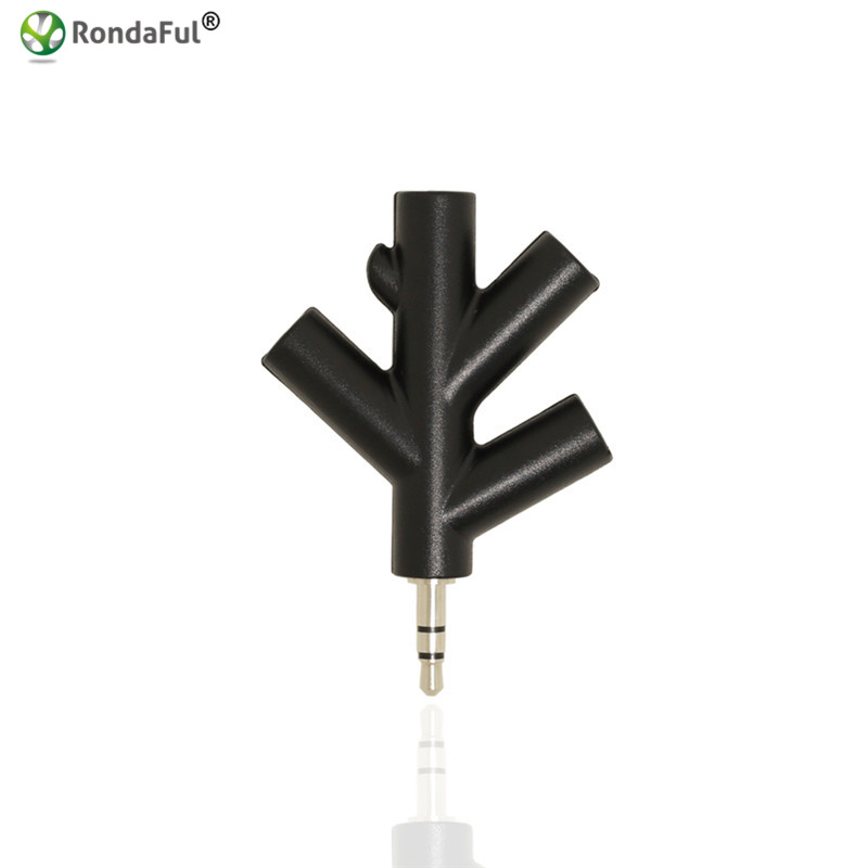 Quality 3.5mm 4 Way Port Aux Audio Spliter Multi Headphone Earphone Adapter Converter 1 Male to 2 3 4 Female(China)