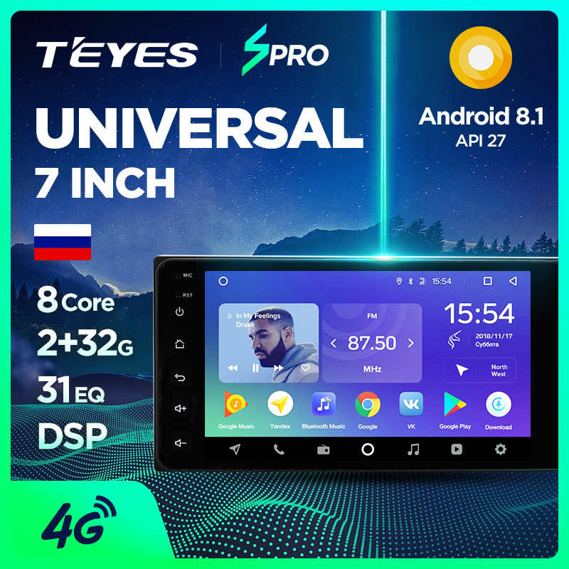 TEYES SPRO android 8.1 Universal Car Multimedia Player Stereo for toyata VIOS CROWN CAMRY HIACE PREVIA COROLLA RAV4