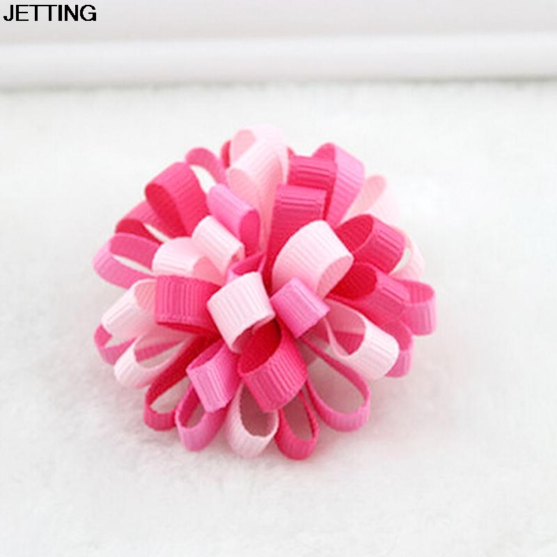 1 Pc Kids Loopy Puffs Hairropes Ribbon Hair Bow Hairbands Headbands Girl Headwear Random Color
