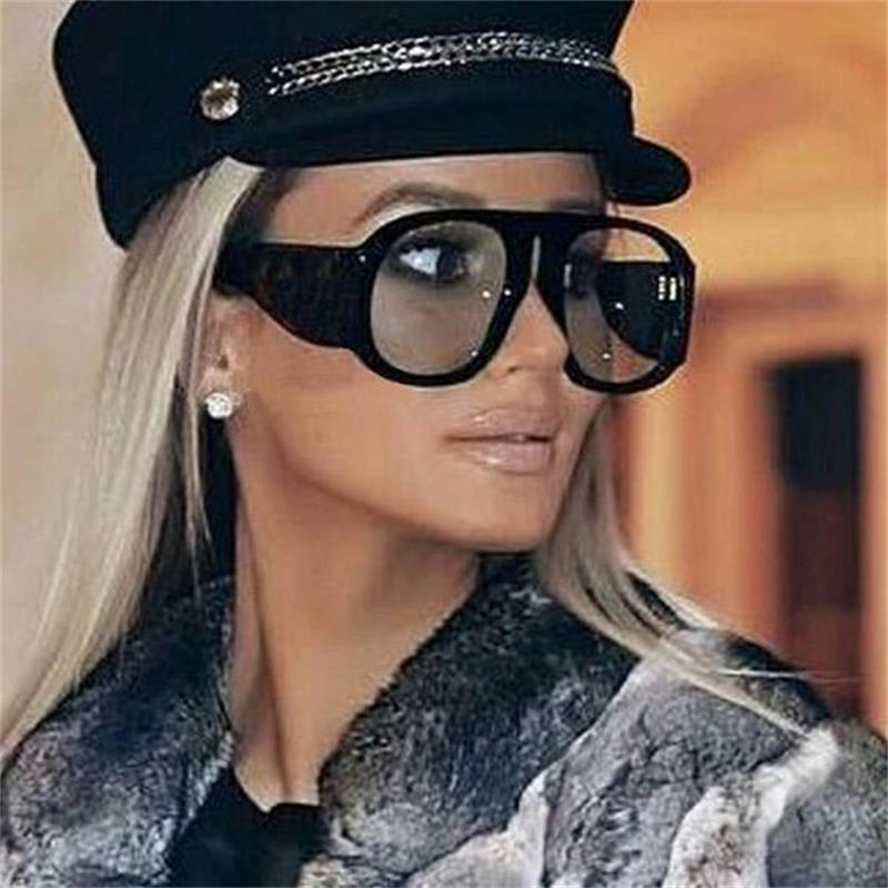 Женские крупные солнцезащитные очки винтажная, брендовая, дизайнерская большие солнцезащитные очки женские солнцезащитные очки градиентные солнцезащитные очки Oculos Gafas