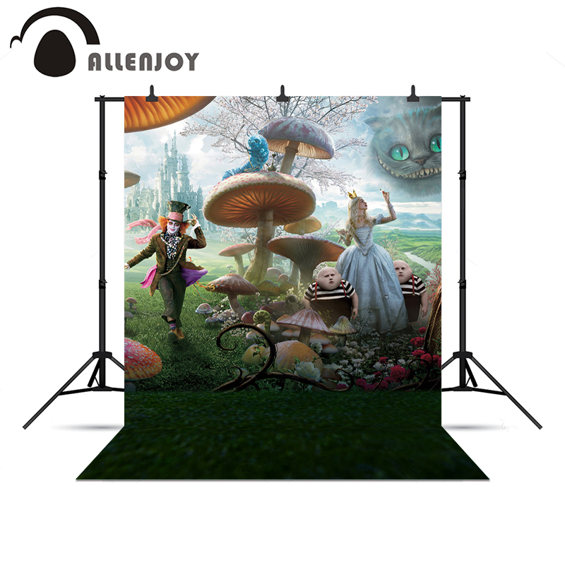 Allenjoy photography backdrops Printsess Castle Forest Alice in Wonderland fototõmmise taust Fotofoni fotokõne