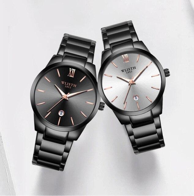 MEN Watches Auto Date Watch Men relogio masculino stain steel Strap Chronograph