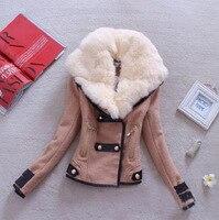 Женское шерстяное повседневное пальто зима осень 2017 мода новый бренд плюс размер Slim молния тонкая однотонная парка Casaco Feminino