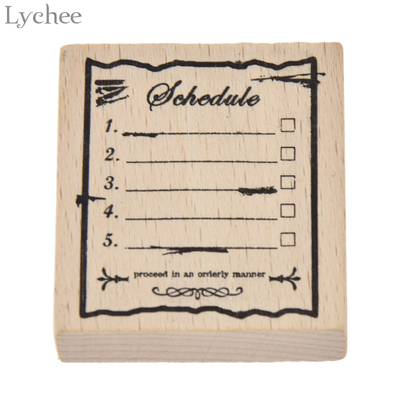 Lychee Vintage Wood Box Rubber Stamps Wooden Scrapbooking Standard Stamp DIY Craft Stamps Decoration For Handmade Gift handmade vintage towel 7 4cm tinta sellos craft wooden rubber stamps for scrapbooking carimbo timbri stempel wood silicone stamp