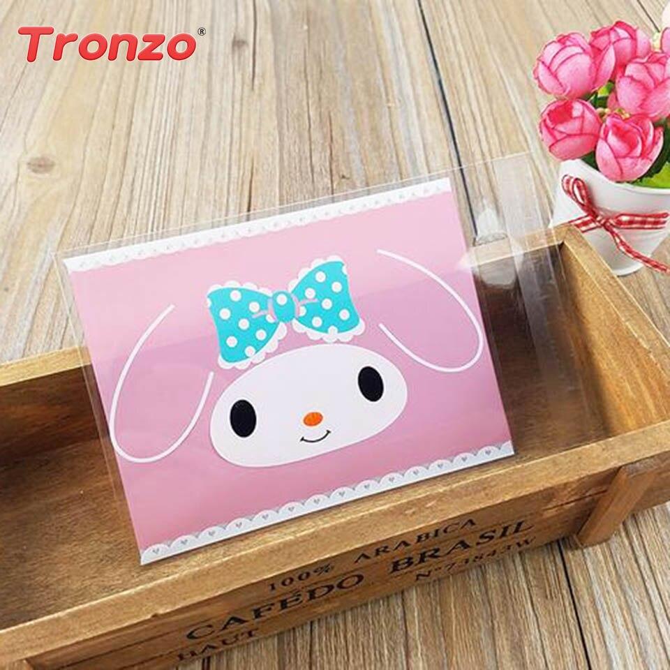 Tronzo 100pcs Rabbit Ear Plastic Bag Wedding Favors And Gifts Bunny ...