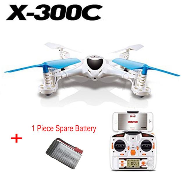 F16107/8-A X300C FPV RC Drone Headless UAV Quadcopter RC con Una Función de Soporte de La Cámara en tiempo Real + 1 Unidades de Batería de Repuesto