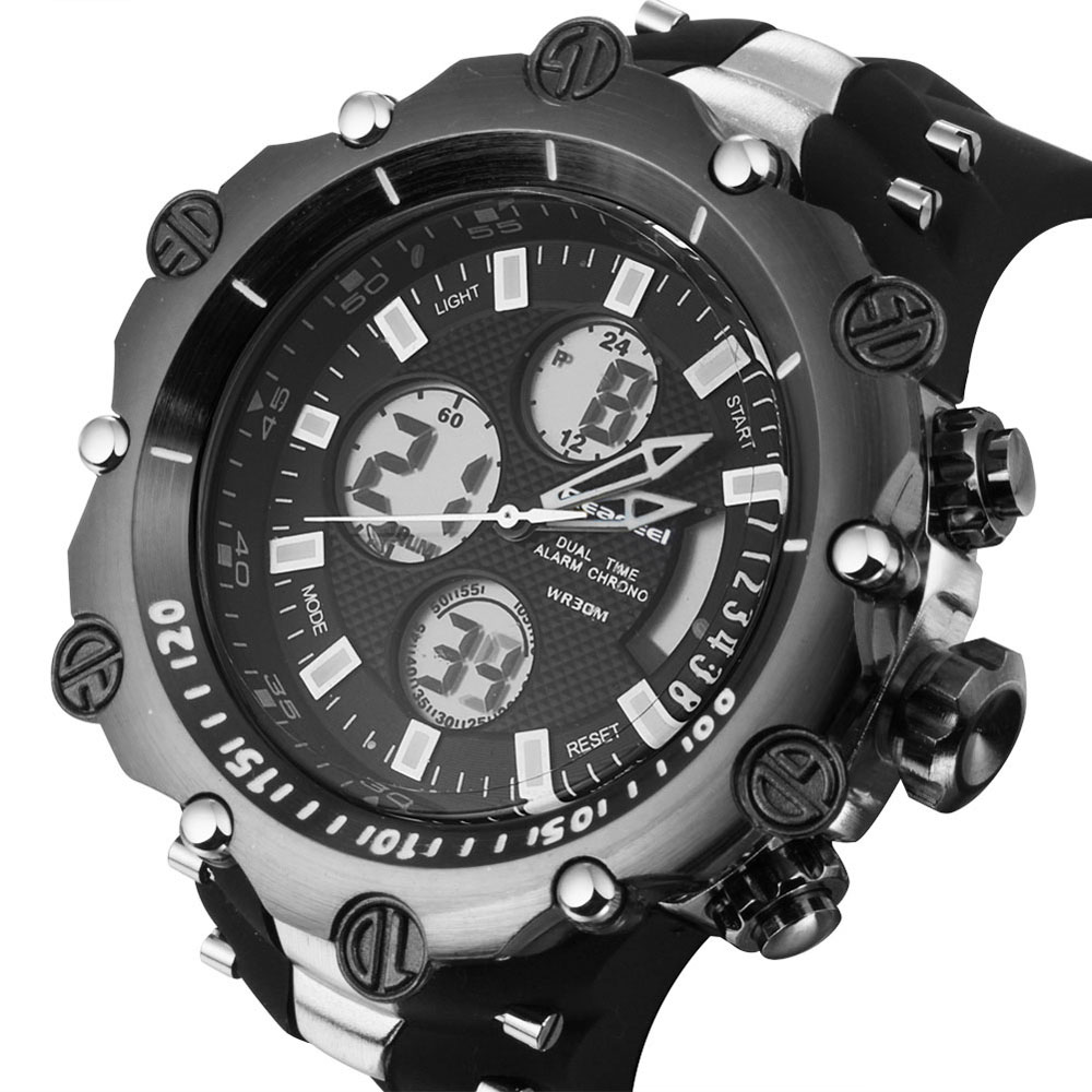 Sport men's Quartz Digital LED Watch Chronograph  1
