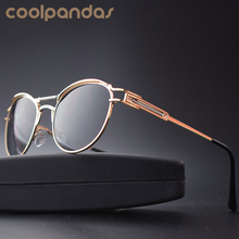 Gothic Steampunk Sunglasses Men Meta Flat Top Vintage Round Shades Male Mirror Sun Glasses For Women Hip Hop Steam Punk Sunglass
