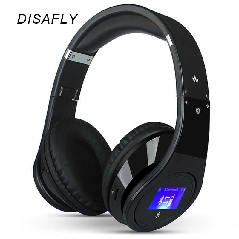 ФОТО New Style Bluetooth Headphones Foldable With TF card FM Slot Radio Wireless Over Ear Headsets With LCD Screen BQ968 Earphone