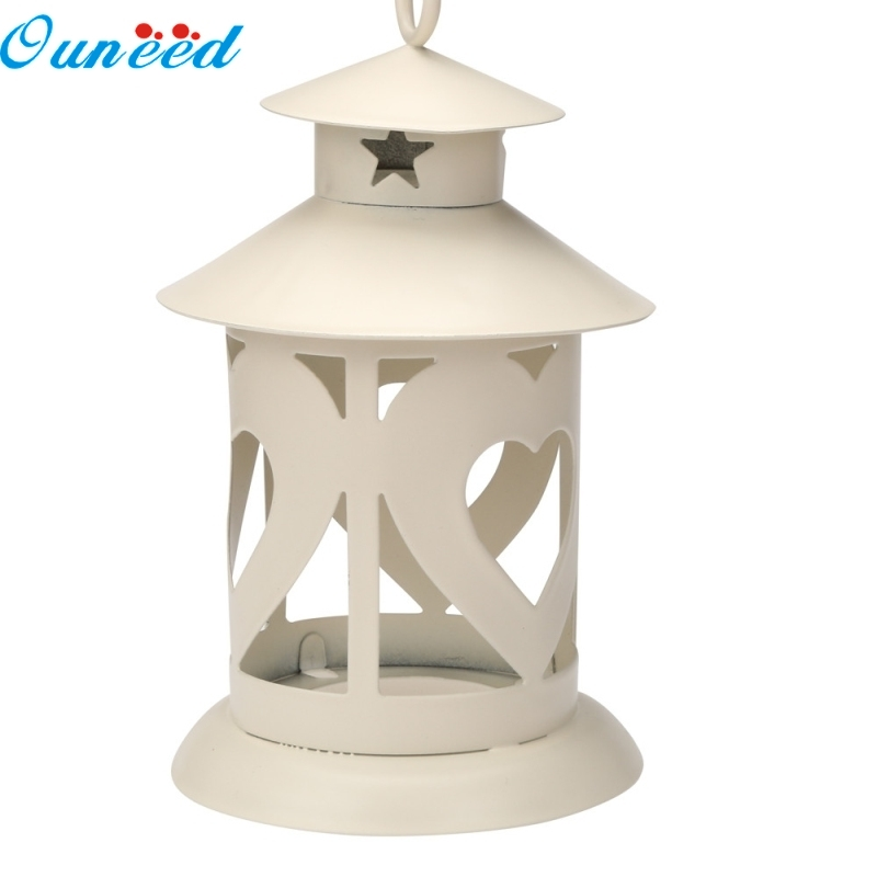 Ouneed Happy Home Candle Holder Wedding Home Table Decorative Vintage Romantic CandleStick 1 Piece classic candlestick hollow iron art lamp for romantic wedding home decoration