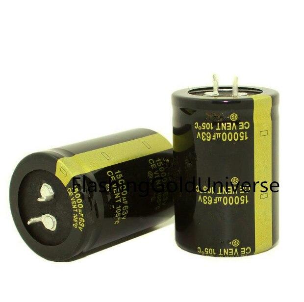 Electrolytic-Capacitors Low-Esr 63V15000UF New 28PCS-2PCS Volume:35x50mm High-Frequency