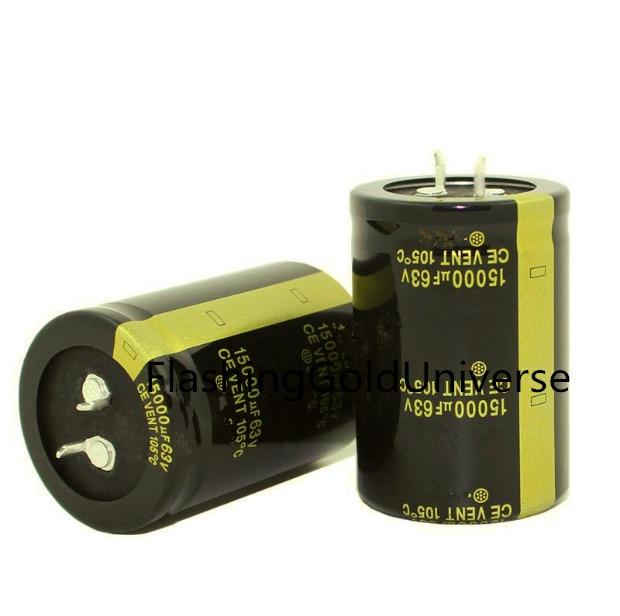 New Original 28PCS-2PCS 63V15000UF 15000UF 63V  Electrolytic Capacitors Volume: 35X50MM High Frequency Low ESR