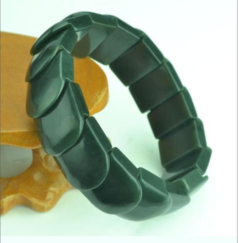 Royal Noble chinois Hetian Jade sculpture Bracelets et haut de gamme richesse symbole exquis bijoux