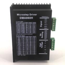 Silnik Microstep sterownik dla CNC Router grawerowanie frezarka NEMA23/NEMA34 86 sterownik silnika krokowego 7.2A 36 75VAC DMA860H w Sterownik silnika od Majsterkowanie na