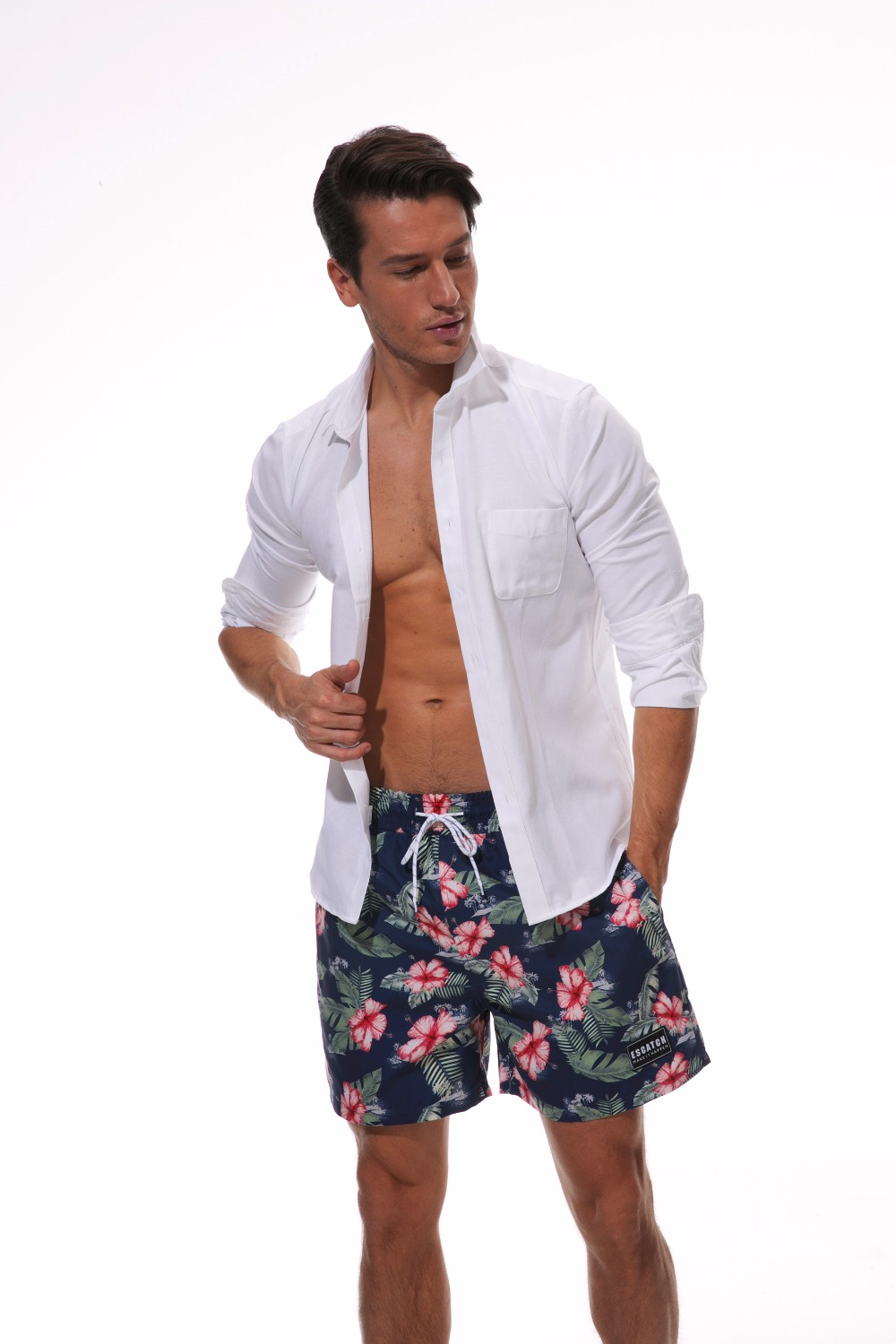 Topdudes.com - Men's Beach Fashion Quick Drying Board Trunks Shorts